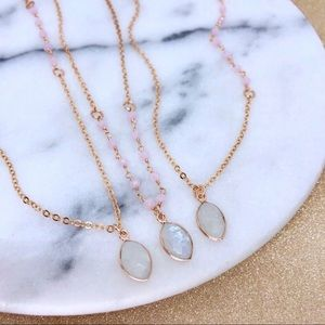 🥳2/$40 SALE🥳Rose Gold Moonstone Necklace
